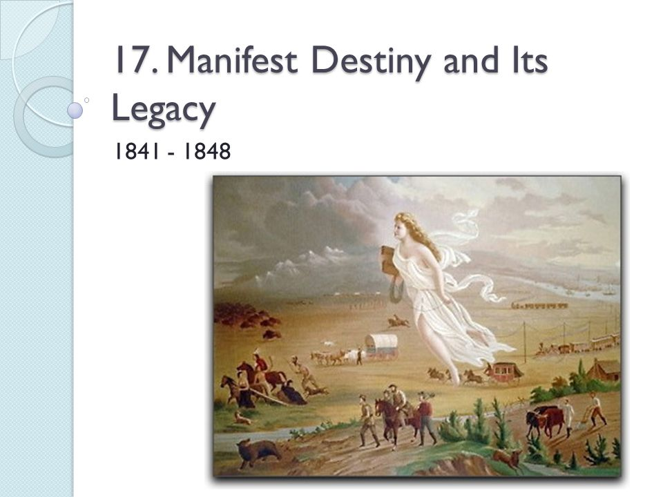 the manifest destiny and the economic rewards Economic power is the key to america's  and so is the doctrine of 'manifest destiny' the puritans have always believed that they were destined to be a great and.