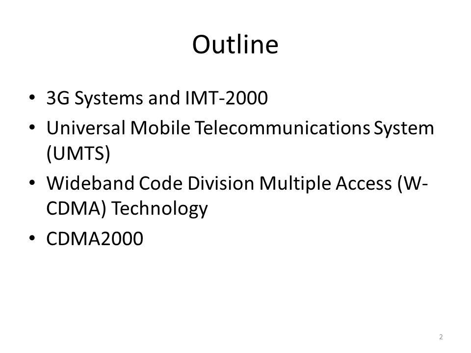 3G/Third Generation Wireless EECS4215 – Mobile Communications York