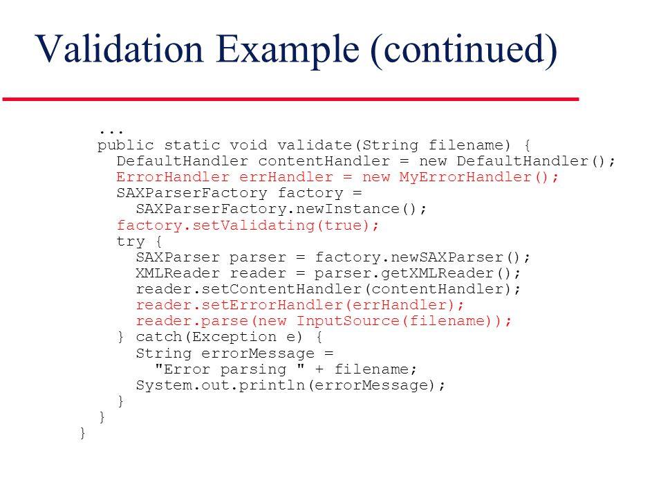Non validating sax parser inputsource