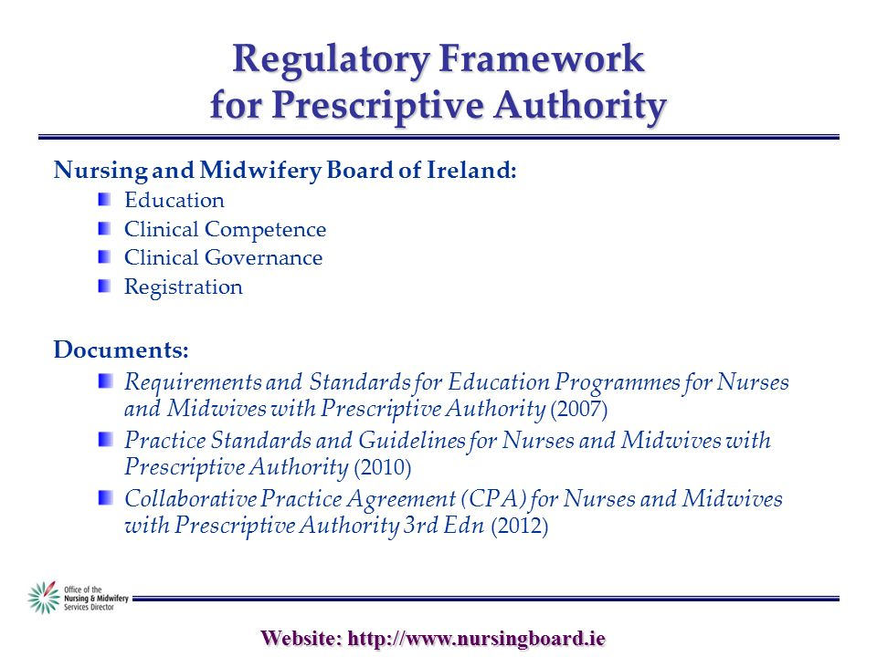 Website Nursemidwife Medicinal Product Prescribing In Ireland
