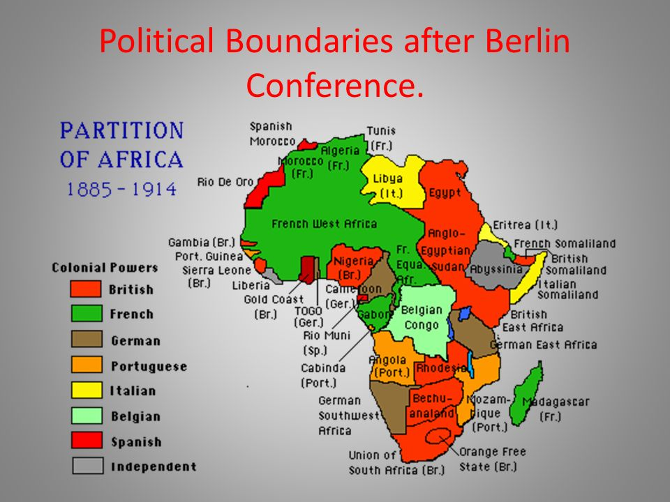 Berlin Conference Africa Colonization Map.Colonization Of Africa 19 Th Century Colonialism Beginning