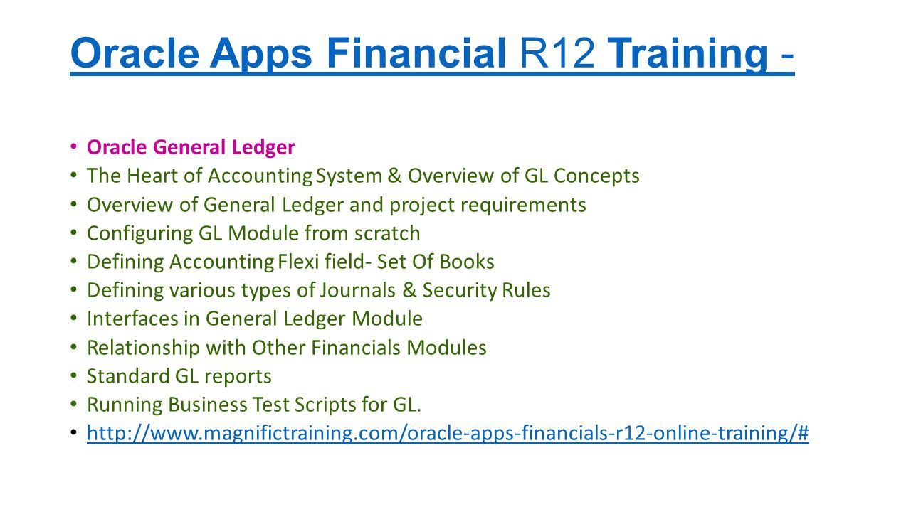 Oracle apps financial functional training Contact us: Magnific