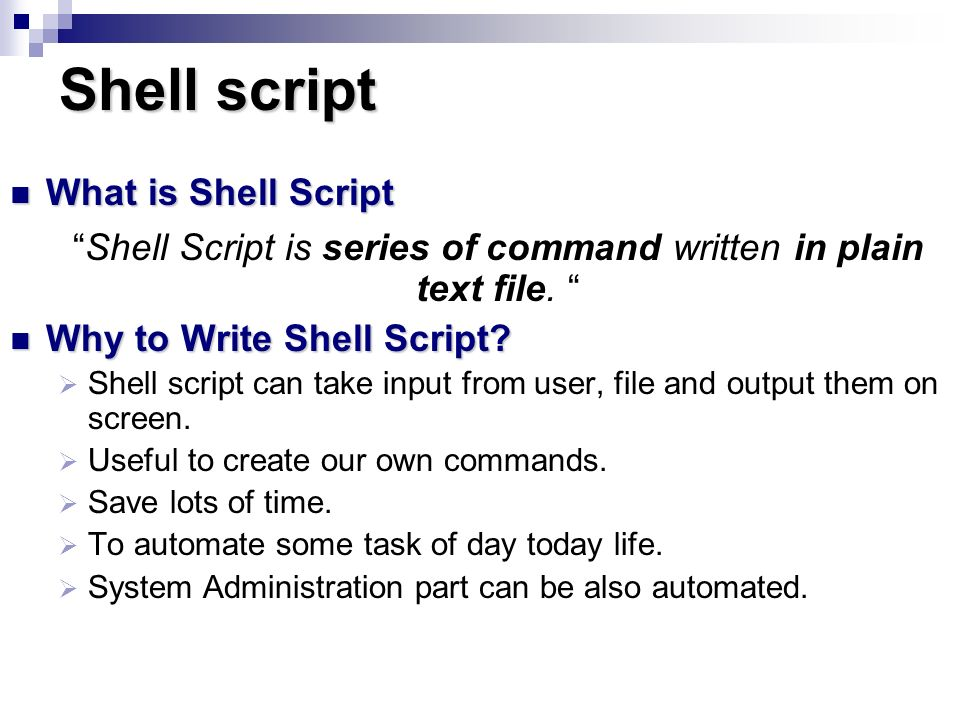 Lab 7 Shell Script Reference: Linux Shell Scripting Tutorial