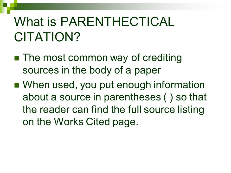 the mla style research paper citations in text using parenthetical