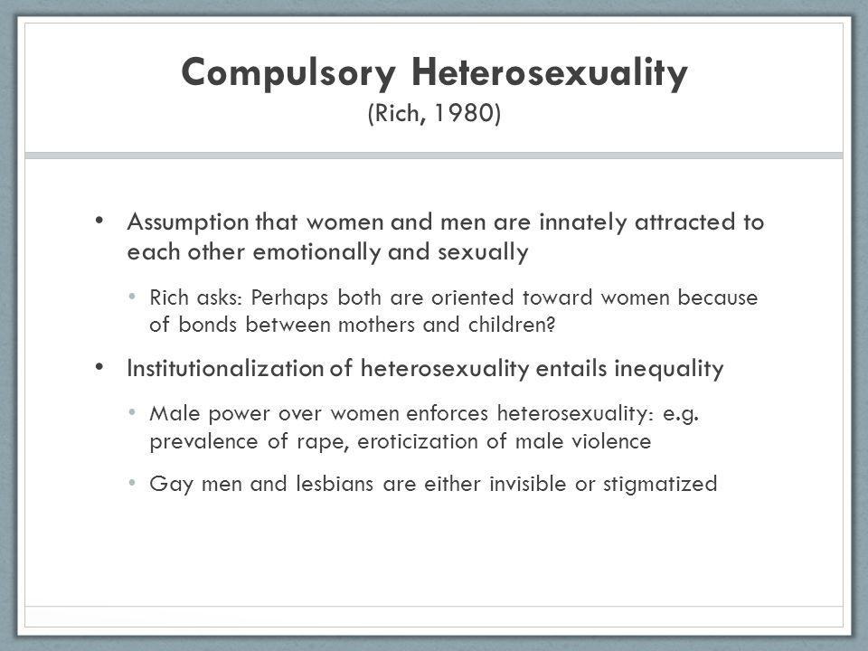 Adrienne rich compulsory heterosexuality