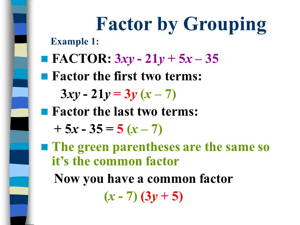 Factoring examples images example of resume for student.