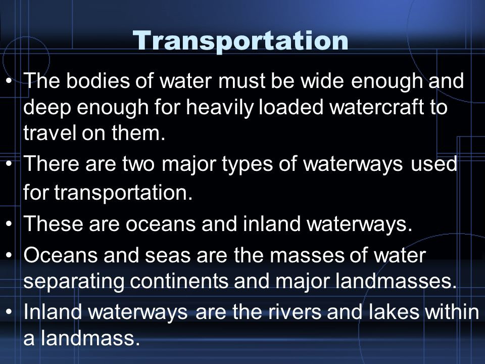 Transportation and Transportation Systems 30 Foundations of