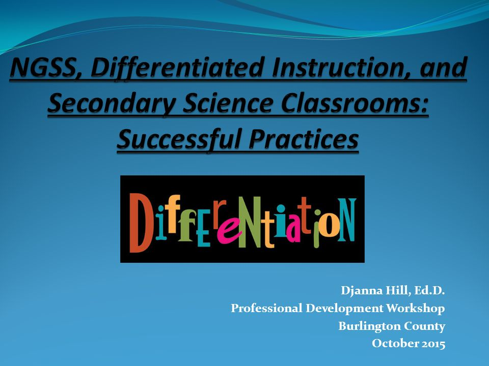 Djanna Hill Edd Professional Development Workshop Burlington
