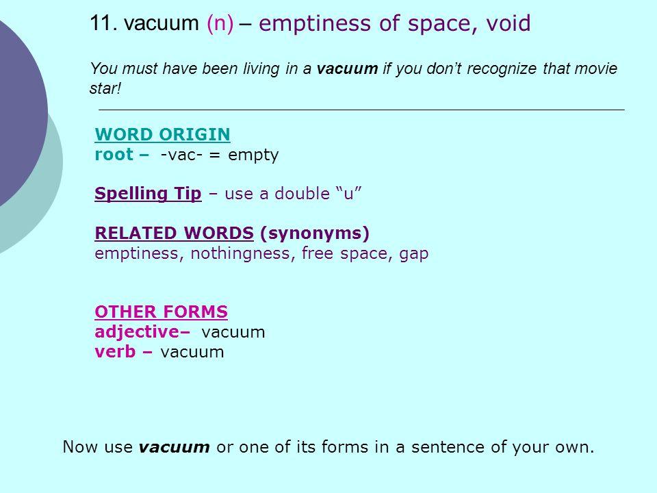 Vocabulary List #6 Vocab Test # 6– Thursday, May 14 th