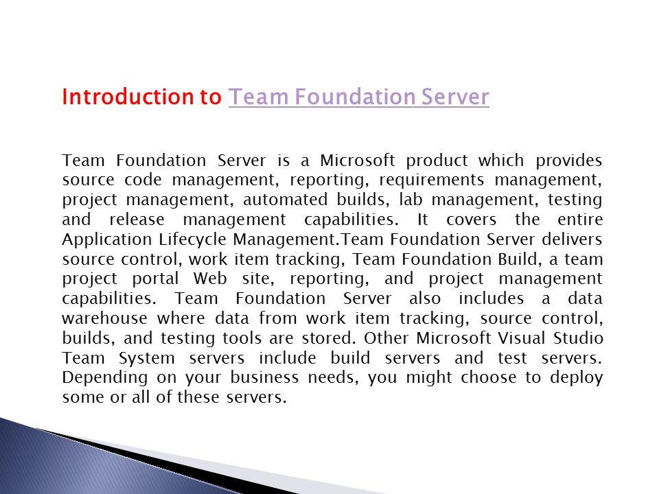 Project Management Team Foundation Server