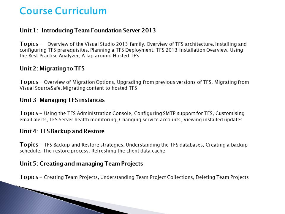 TFS Training TFS Training  Introduction to Team Foundation