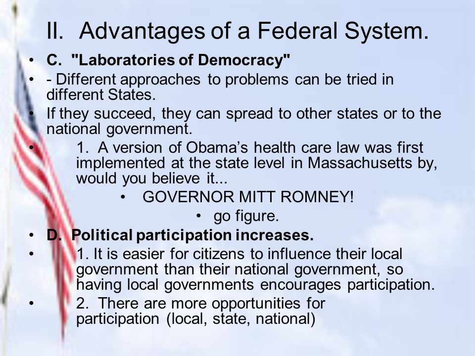 advantages of federal system