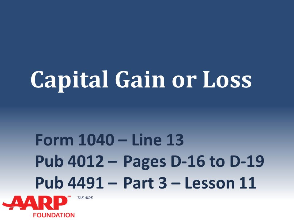 Taxaide Capital Gain Or Loss Form 1040 Line 13 Pub 4012 Pages D. 1 Taxaide Capital Gain Or Loss Form 1040 Line 13 Pub 4012 Pages D16 To D19 4491 Part 3 Lesson 11. Worksheet. 1040 Capital Gains Worksheet At Clickcart.co