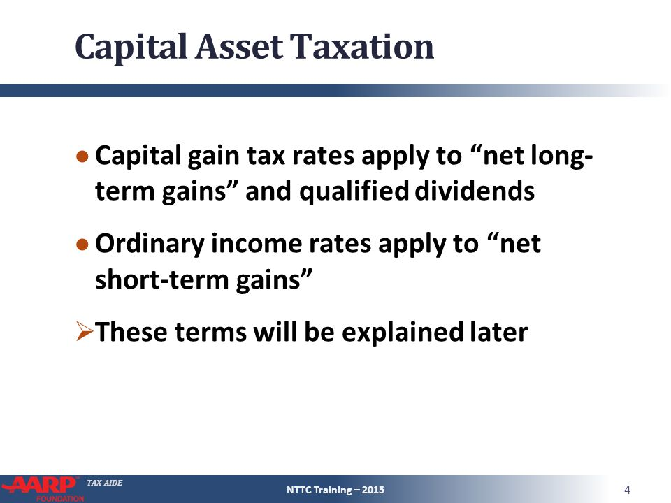 Tax Aide Capital Gain Or Loss Form 1040 Line 13 Pub 4012 Pages D