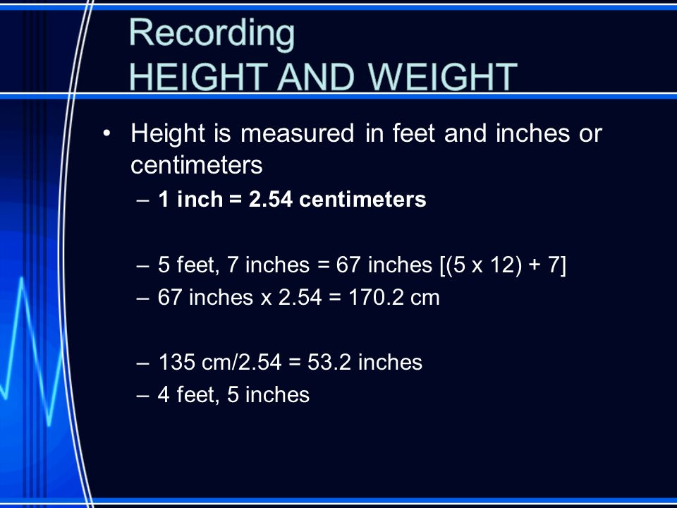 how many centimeters is 5 feet 5 inches