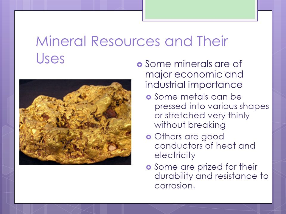 Physical Geology Mineral and Mining Resources  Ore Minerals