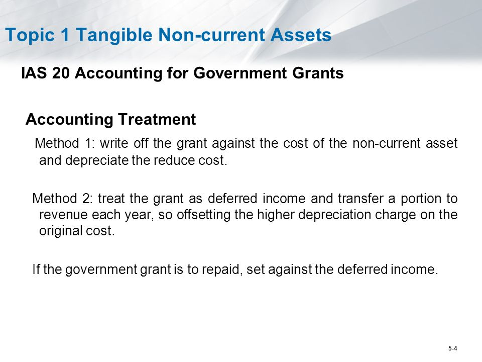 5-1 Topic 1 Tangible Non-current Assets IAS 20 Accounting