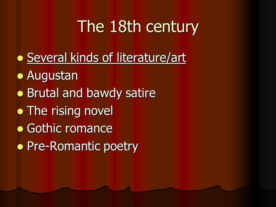 Neoclassical Augustan Art And Literature The 18th Century