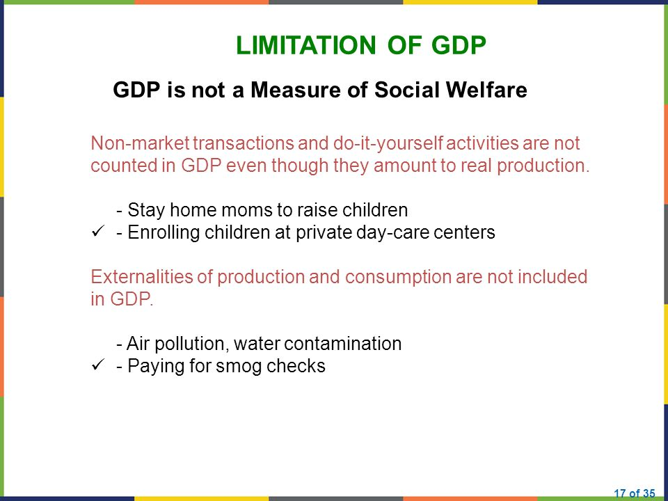 limitations of gdp as a measure of welfare