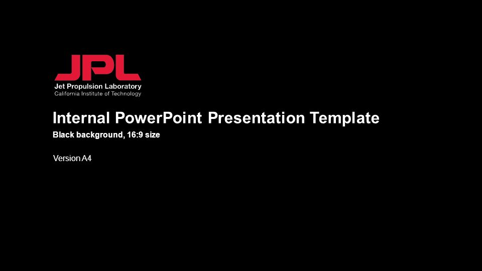 Internal Powerpoint Presentation Template Version A4 Black