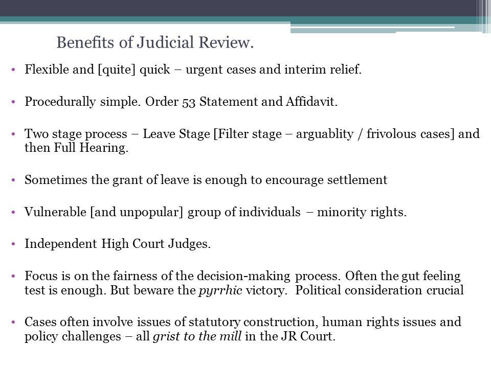 benefits of judicial review