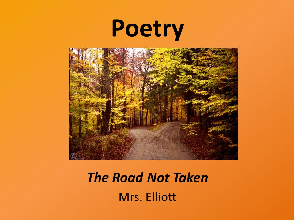 poems about roads and choices