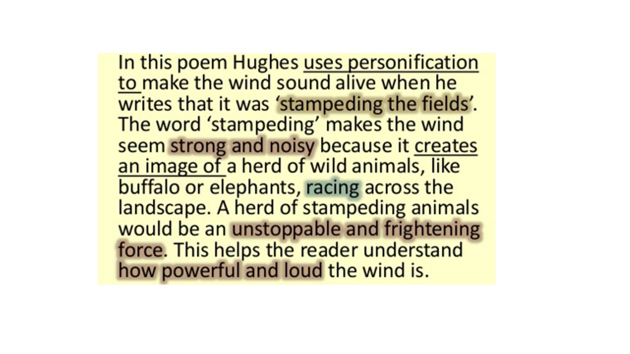 wind ted hughes analysis