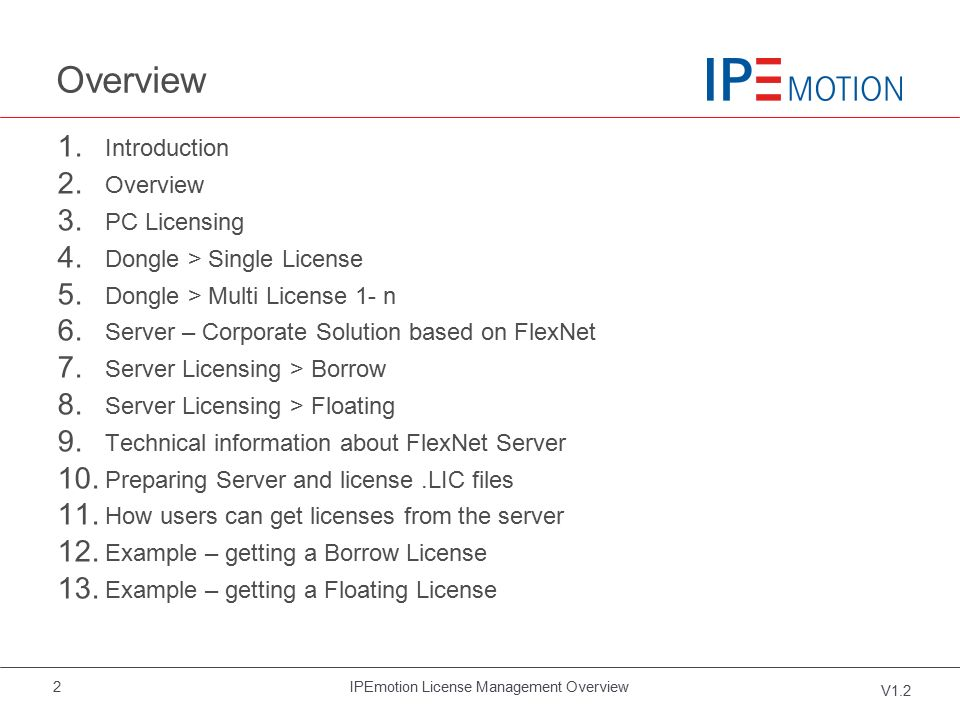 ipemotion license management pm v1 2 ppt download