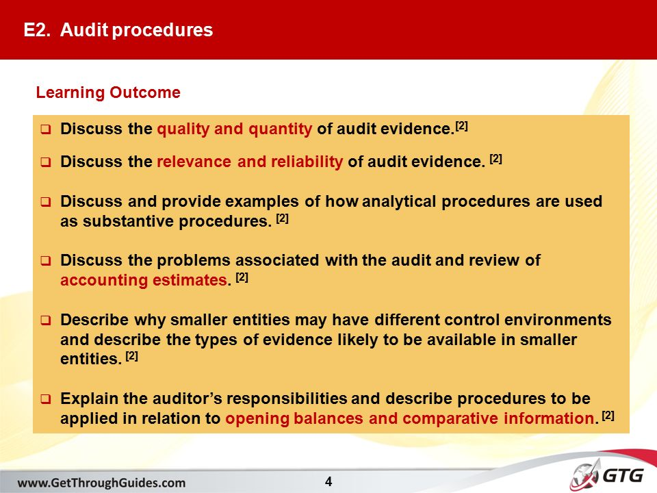 4 discuss the quality and quantity of audit evidence