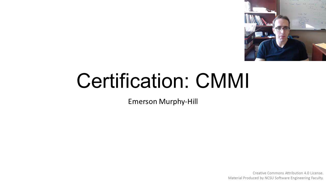 Certification Cmmi Emerson Murphy Hill Capability Maturity Model