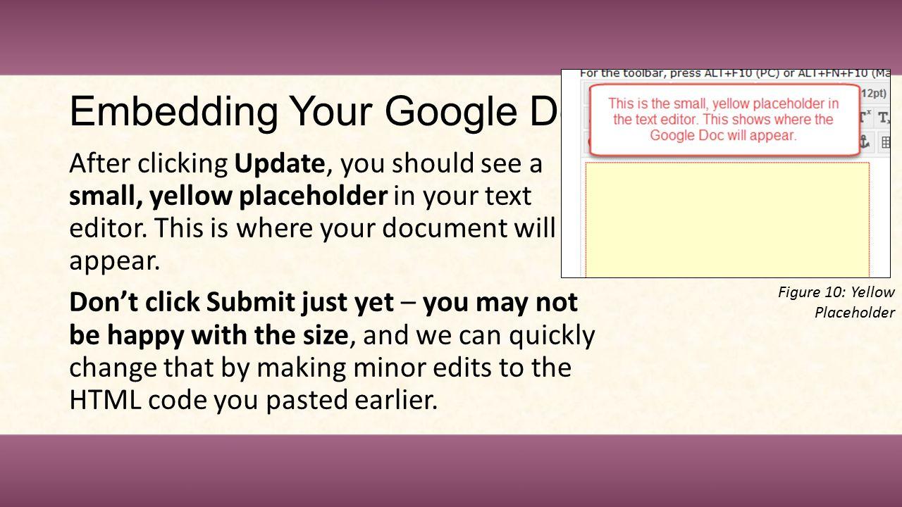 Instructional Design Center Embedding Google Documents in Blackboard