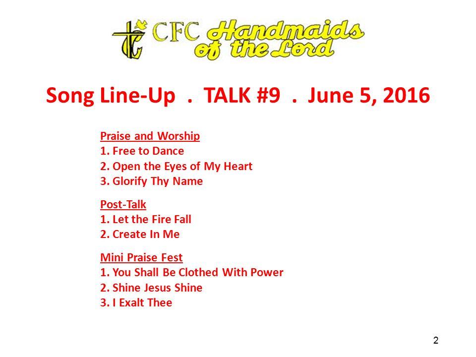 "W E L C O M E ! Christian Life Program TALK #9 ""Receiving"