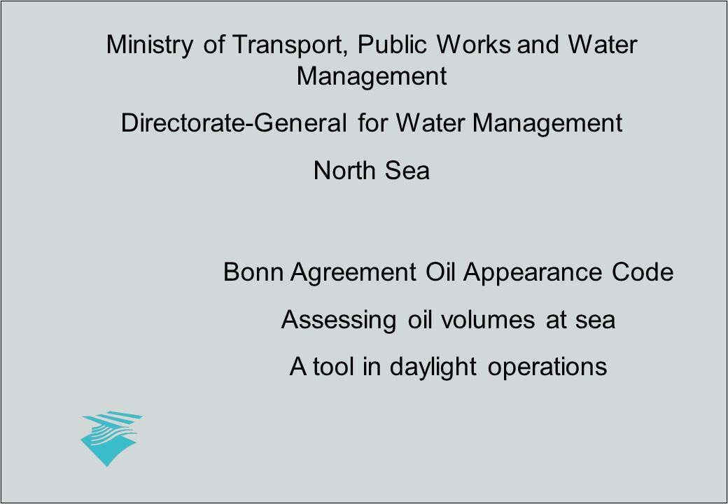 Ministry Of Transport Public Works And Water Management Directorate