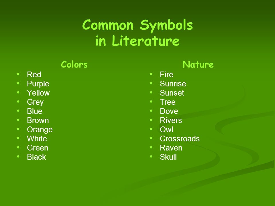 Symbols And Symbolism In Literature What Are Symbols And Where Do