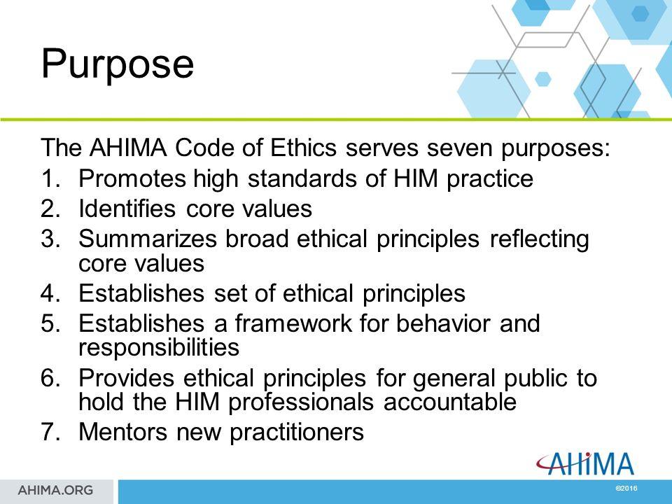 ahima code of ethics