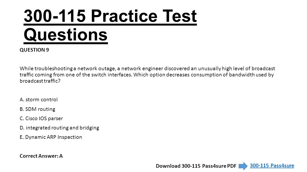 CCNP Routing and Switching Exam Pass4sure  - ppt download
