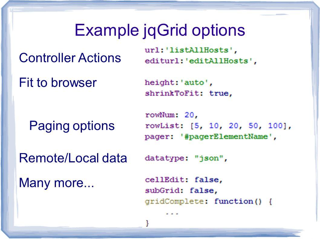 Jqgrid Example