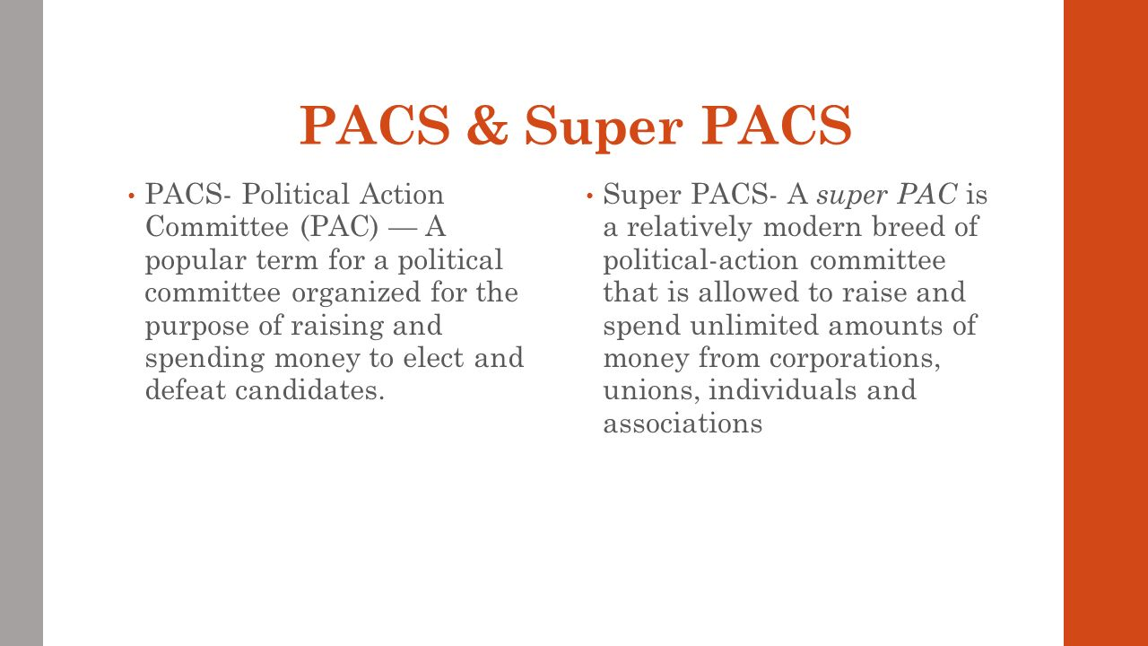 interest groups, lobbying, pacs & super pacs (everything a growing
