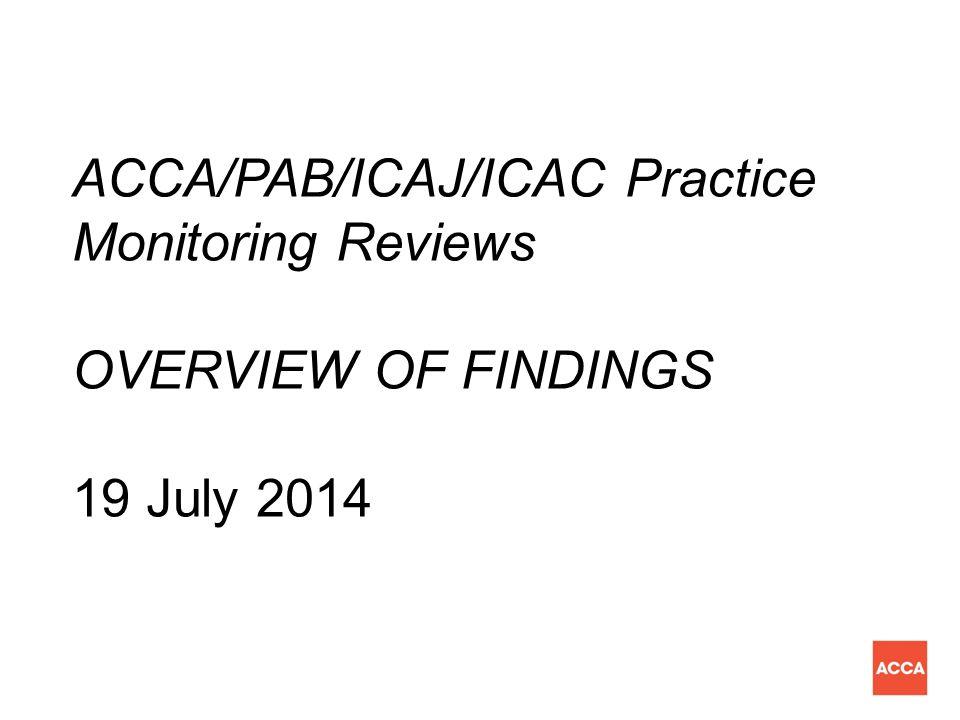 Accapabicajicac practice monitoring reviews overview of findings 1 accapabicajicac practice monitoring reviews overview of findings 19 july 2014 spiritdancerdesigns Gallery