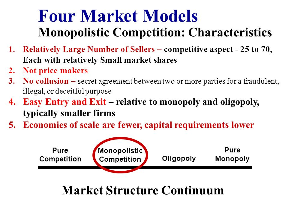 four characteristics of a competitive market