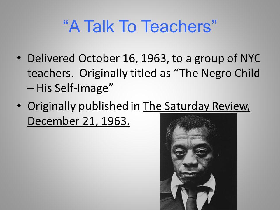 a talk to teachers