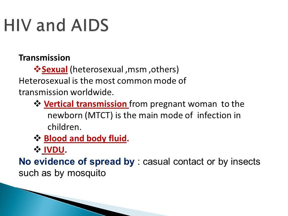 How common is hiv in heterosexuals