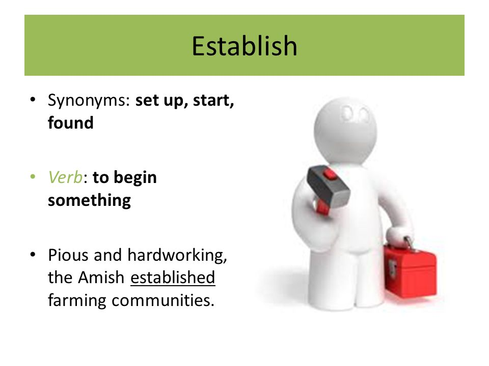 Unit 7 Vocabulary The Choice To Be Amish Most Definitions And