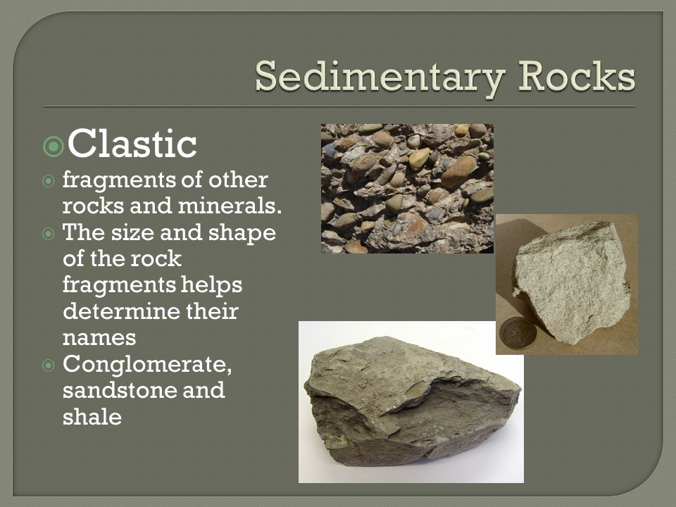 Names of different rocks