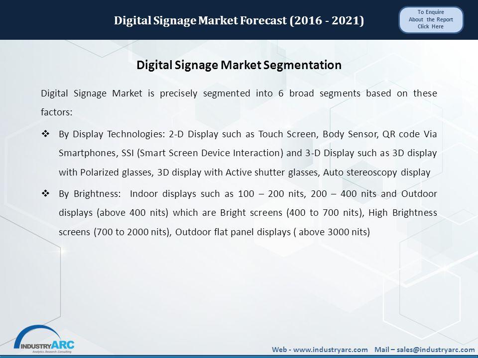 Web - Mail – Digital Signage Market Forecast ( ) - ppt download