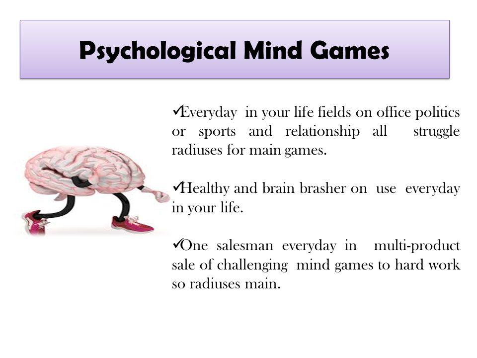 Psychological mind games relationships