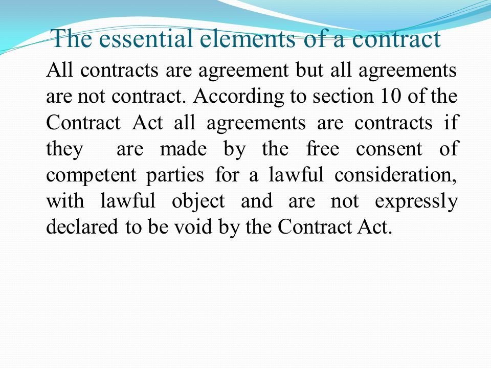 Business Law Will Include The Law Of Contract 1872 The Sale Of