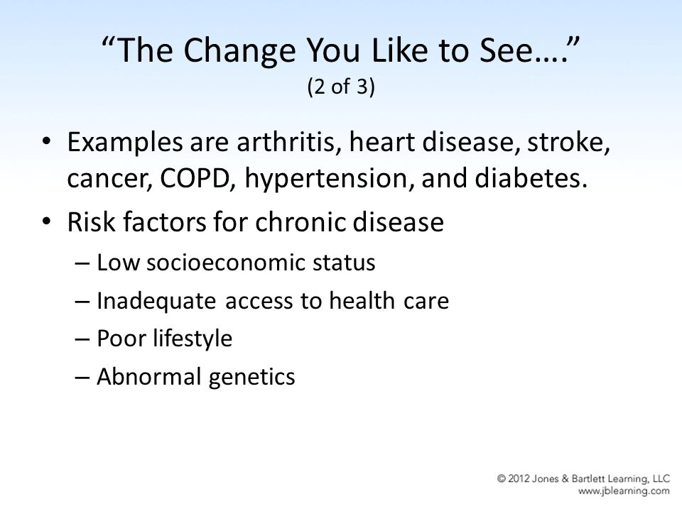 Chapter 7 Epidemiology Of Chronic Diseases The Change You Like To