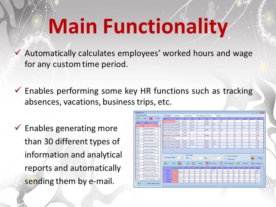 attendance management system product description attendance
