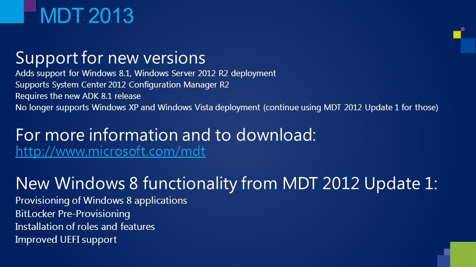 What's New in the Windows Deployment Tools Rhonda Layfield